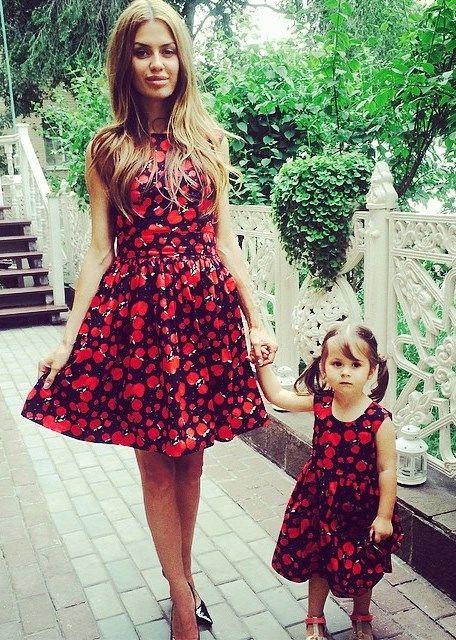 Одинаковые платья для мамы и дочки спб