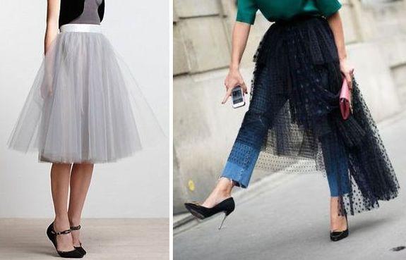 Прозрачная юбка с чем носить фото
