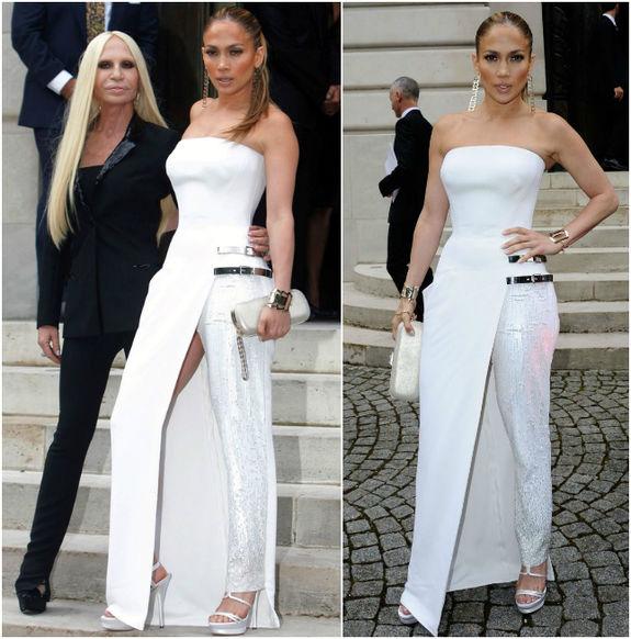 Белое платье от versace