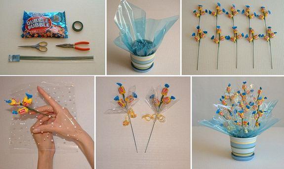 Как сделать букет из конфет своими руками для девочки