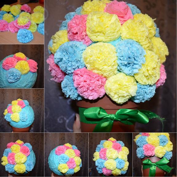 Как сделать букет из цветов своими руками из салфеток