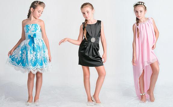 Фасон платьев для девочек на новый год
