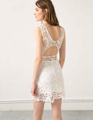 Белые платья bershka