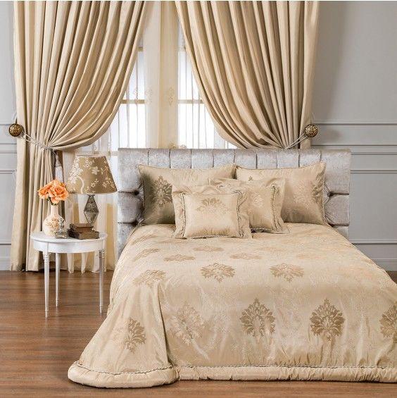 Комплект шторы и покрывало для спальни тогас
