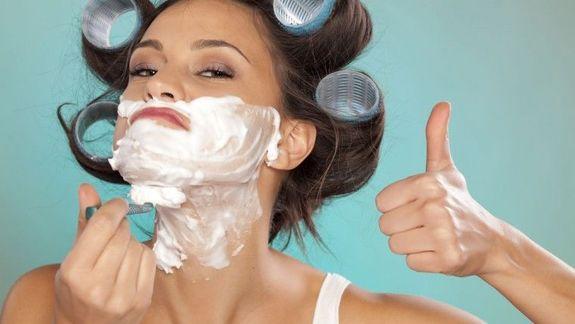 Фото как девушки бреются