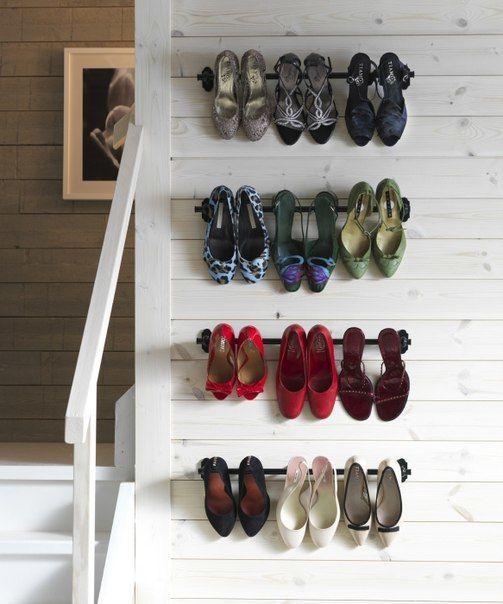 Полка для обуви своими руками - 35 интересных идей