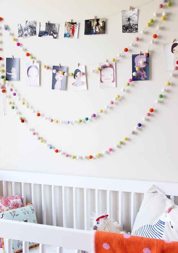 как украсить стену в детской