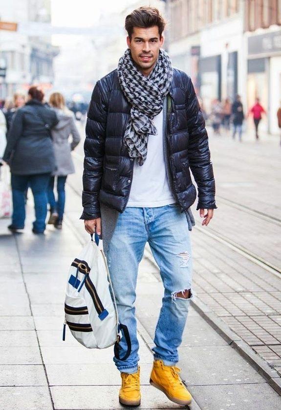 стильно одеваться зимой мужчине подадите