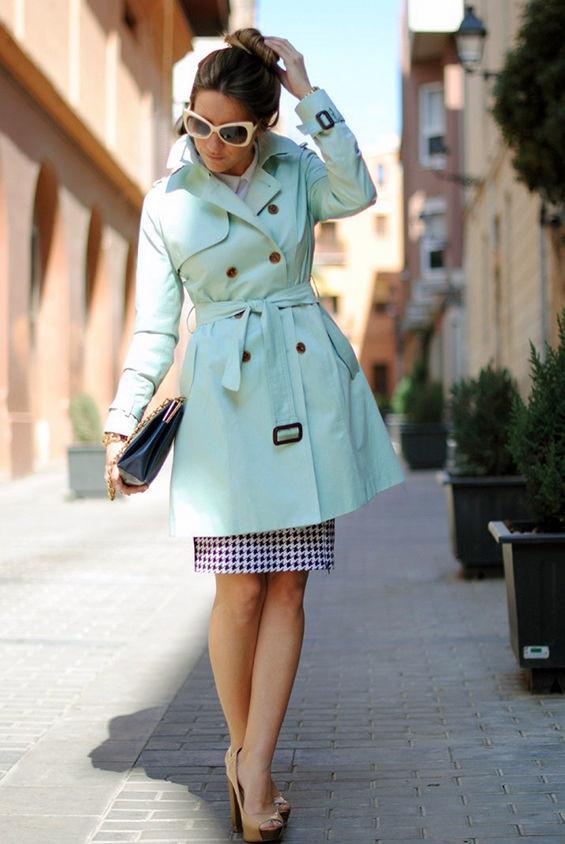 Может ли юбка выглядывать из-под пальто