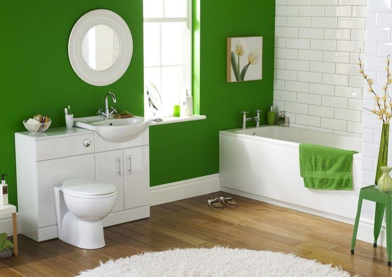 Дизайн ванной комнаты салатового цвета фото