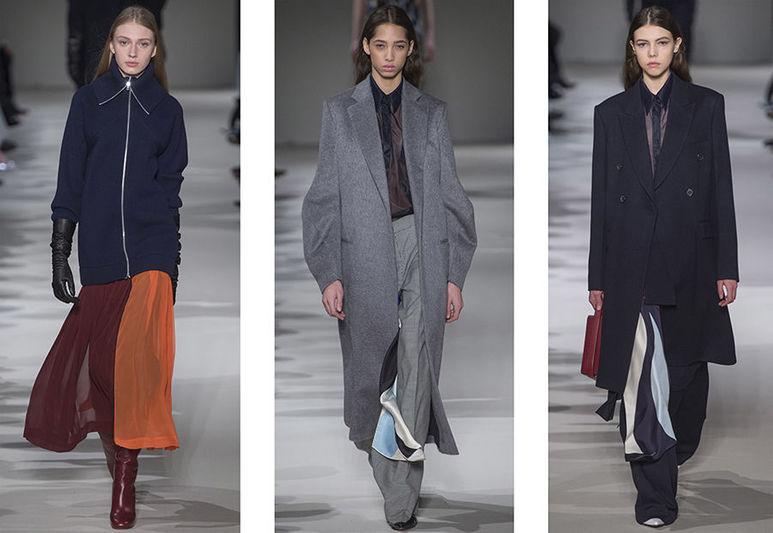 a8a79e80b0a9 Элементы  платье-миди, кардиган, удлиненный пиджак, шифоновая юбка,  свободные брюки.