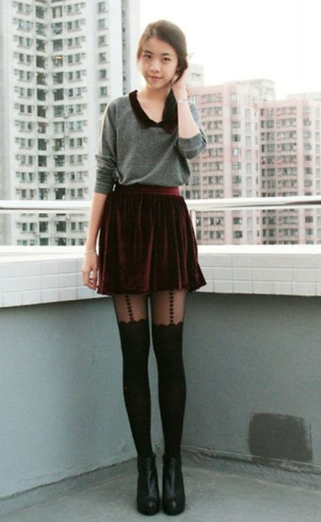 Девушки чулках и черных колготках фото 413-885