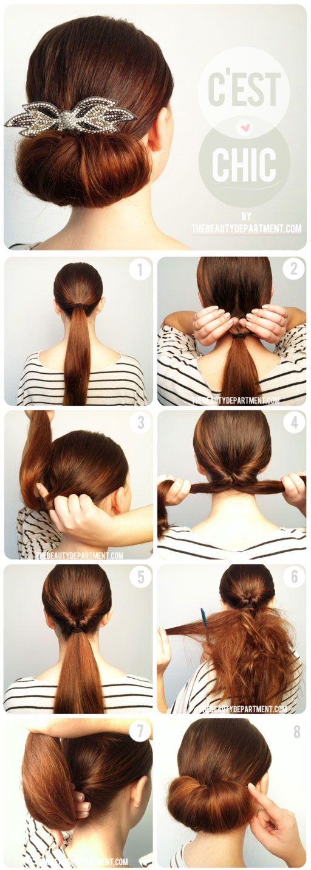Простые причёски для дома