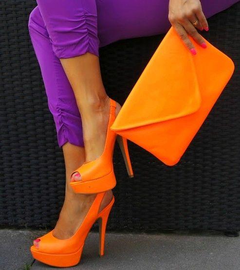 Оранжевый цвет неоновый