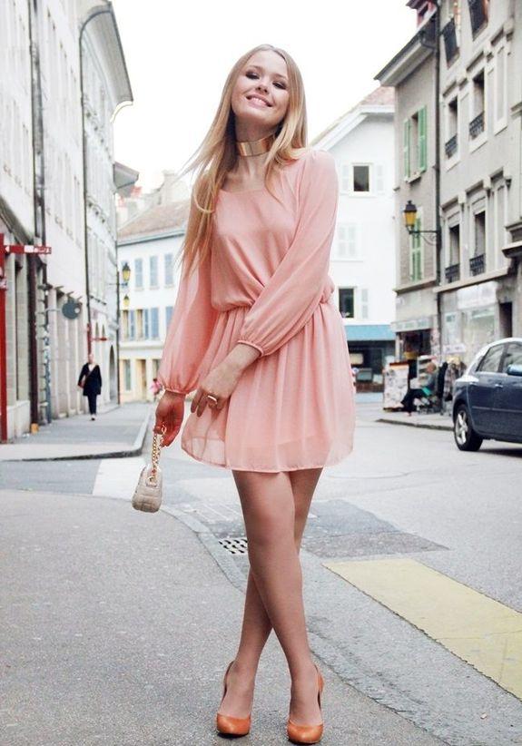 Какие Колготки Одеть Под Розовое Платье